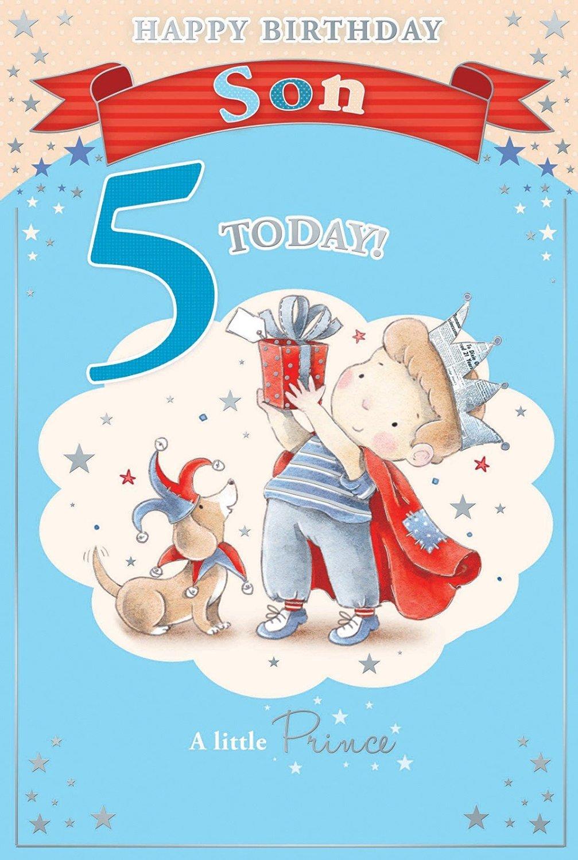Candy Club Sons 5Th Birthday Card