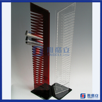 High quality Wall Mounted DVD Display Rack Supplier Tabletop CD Display Rack Clear Acrylic CD DVD Display Rack