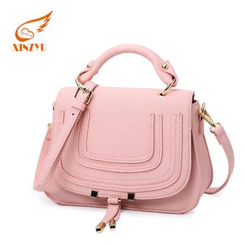 Latest S Handbags Cute Genuine Leather Messenger Pink Woman Handbag