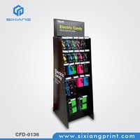 Cardboard Mobile Phone Charger Display Rack Stand For Mobile accessories