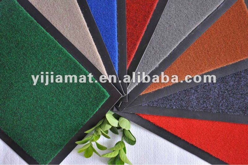 polyester best selling plain vinyl backing tapis