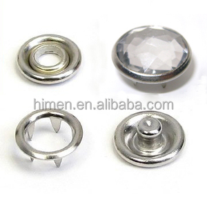 12mm prong snap button with acrylic stone 4 part diamond buttons fastener FP-010