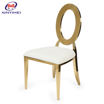 High quality rose gold PU stainless steel chair for hotel hall
