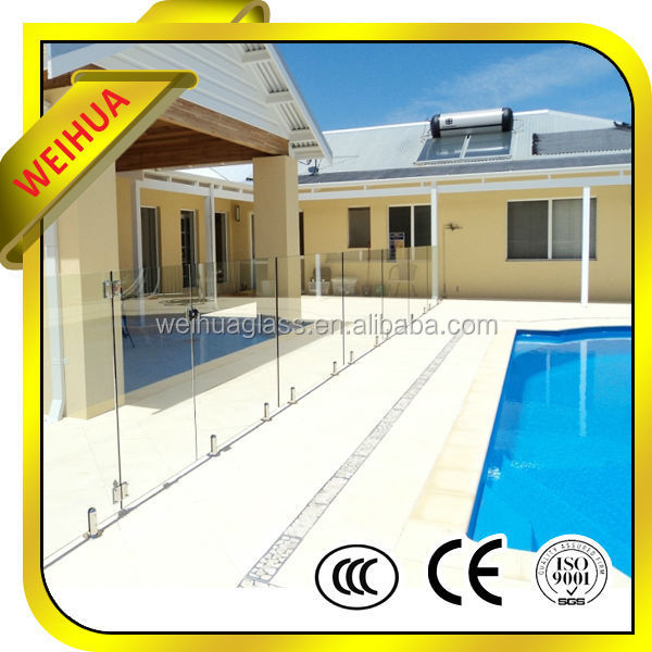Factory hot sale porch railings clear tempered glass