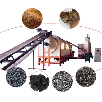 100% natural biomass pistachio nuts shell carbonization furnace almond shell charcoal rotary carbonized furnace