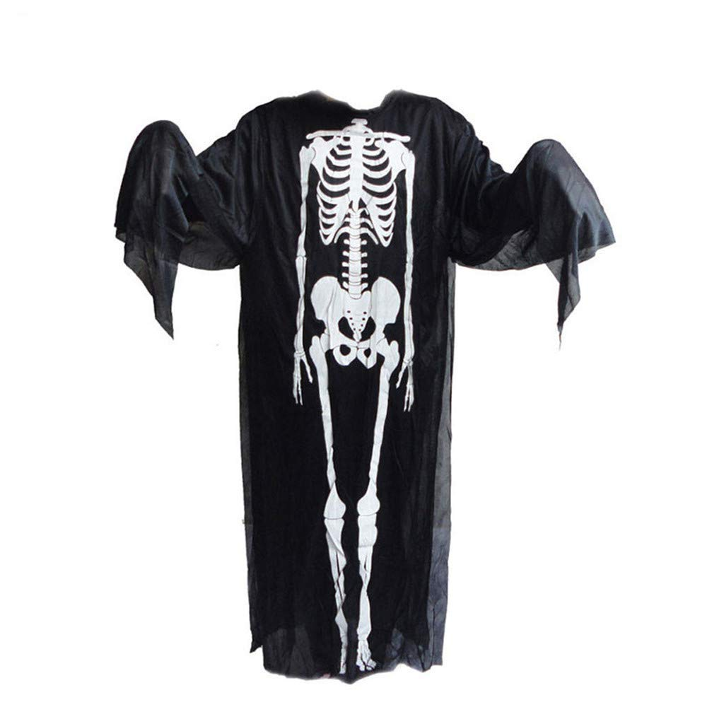 Euone  Halloween Clearance , Ghost Clothes for Woman Men Scary Skull Skeleton Costume + Devil Mask Cosplay