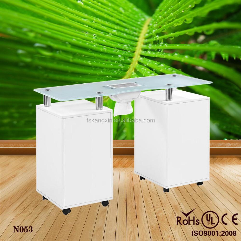 gel n gel glasplatte nagel tisch mit ventilator wei e. Black Bedroom Furniture Sets. Home Design Ideas