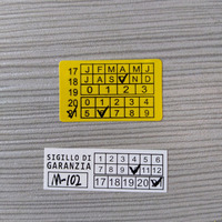 Custom 25mm x 15mm Tamper Evident labels print,Yellow background Destructible labels for Calibration
