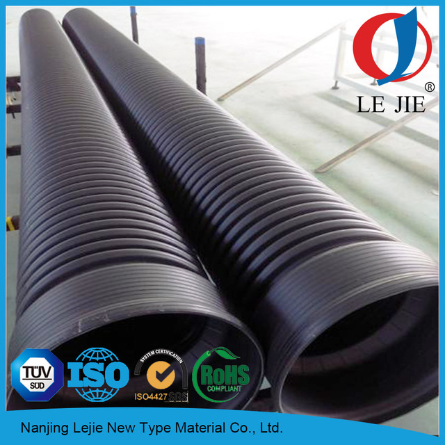 4 inch double walled corrugated drain pipe