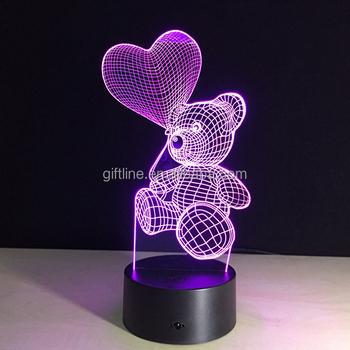 Plexiglas Led Nachtlicht 3d Led Lampe Deko Licht Micro Usb Led Lampe