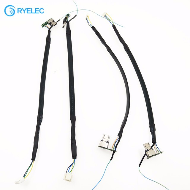 custom camera usb flat cat6 ethernet cable with hirose connector in 2 parts zx20