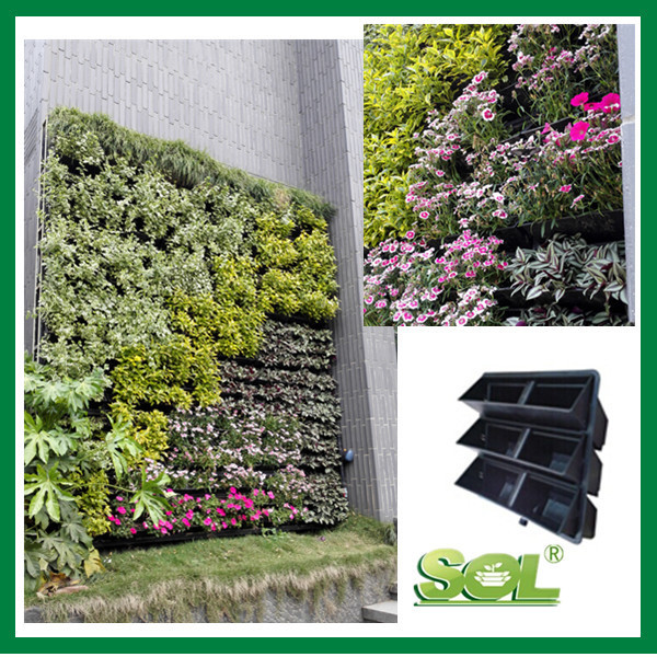 Vertical garden wall planter box felt hydroponics for Vertical garden wall systems
