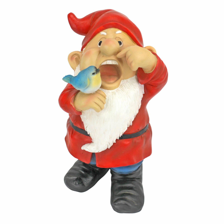 Garden Gnome Statue - Gezundheit Gunther the Sneezing Garden Gnome - Lawn Gnome