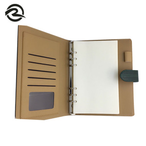 Factory directly provide Hand cover Folder Document PU Ring Binder