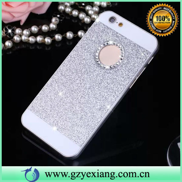 For iPhone 6 Glitter Plastic Case, Silver Glitter Case Cover For iPhone 6