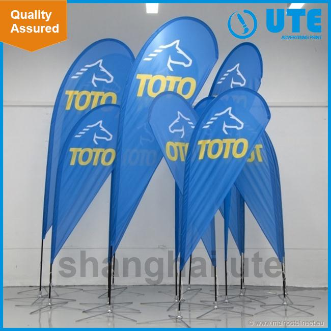 Cheap wholesale custom polyester fabric hand flag Outdoor banners marketing displays