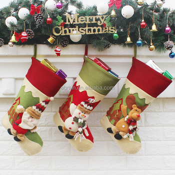 2017 new original design christmas activities ideas santa claus stocking online christmas pictures decorations