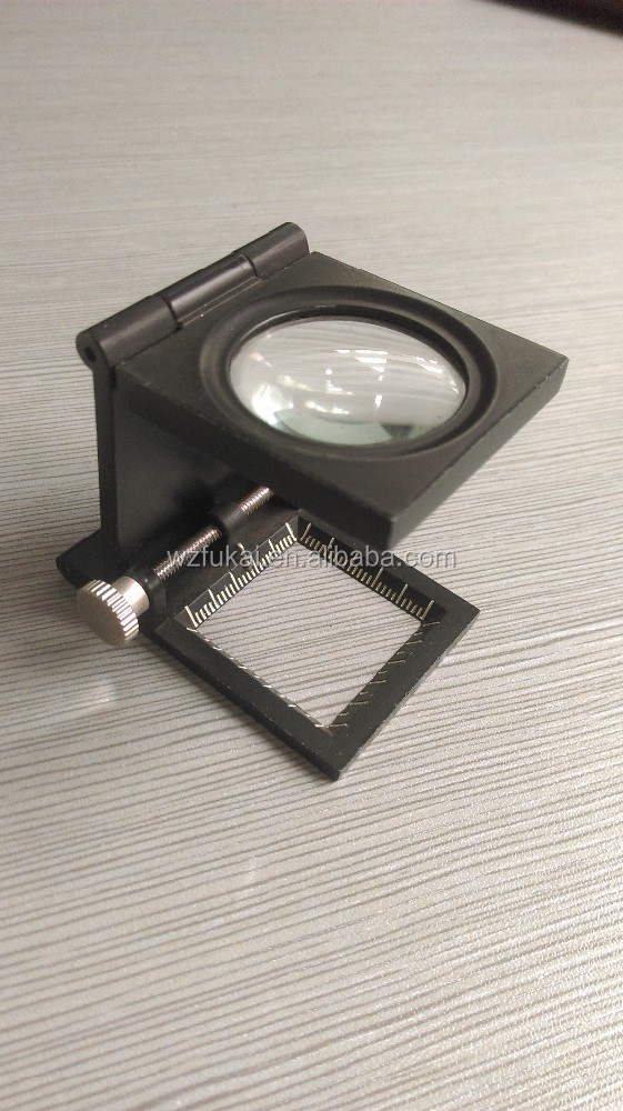 30mm lens adjustable stand cloth inspection magnifier with glass lens
