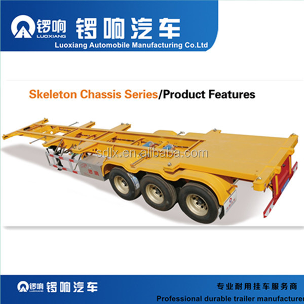 2 axle 20ft 40ft Skeleton Semi Trailer Container Chassis