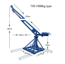 Outdoor lift machine portable mini crane for construction use