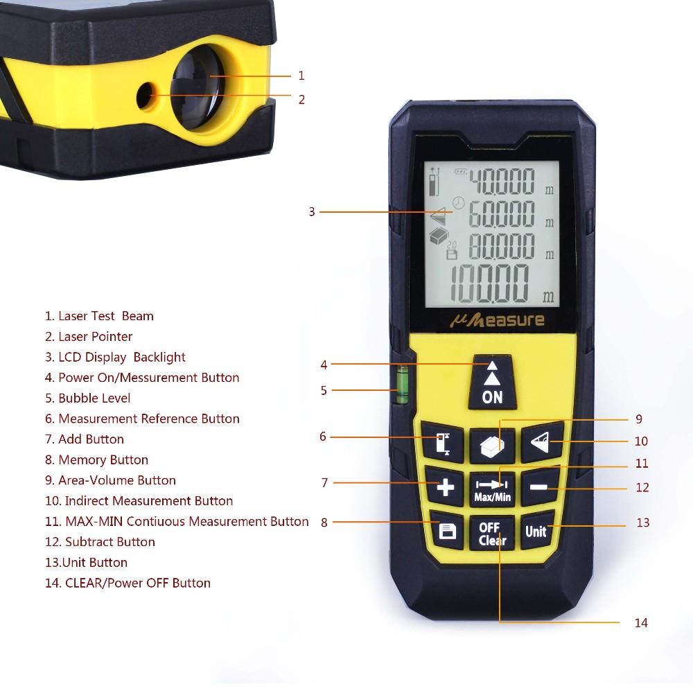 Distance Measuring Instrument : Automatic digital length laser rangefinder measuring