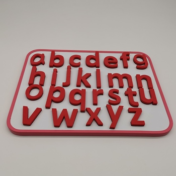 Custom colorful EVA foam magnetic letters and numbers with whiteboard  for Kids education