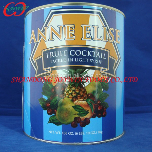 Canned fruit cocktail 2.5kg 3kg in ls