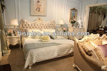 Romantic Victorian Bedroom Furniture Set Antique Royal Furniture Set Queening Bed And Night Stand