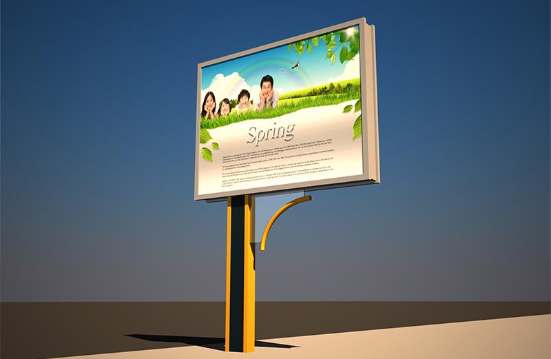 Unipole Advertising Scrolling City Board Display Billboard ...