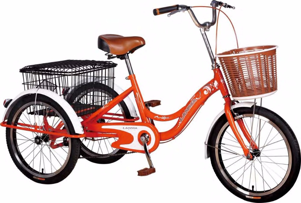 TR001 20 Inch Steel Cargo Tricycle With Rear Steel Bracket