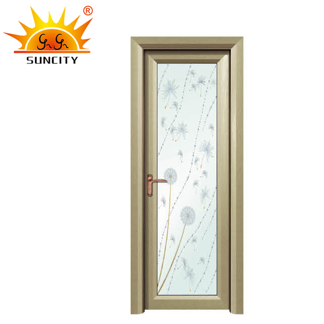 Cheap price latest models aluminium folding bathroom door