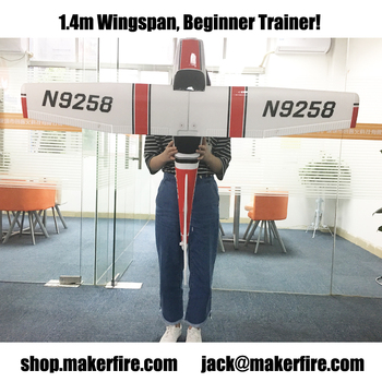 Makerfire 1.4m Cessna 182 EPO PNP version RED 1400mm Wingspan Big RC Plane