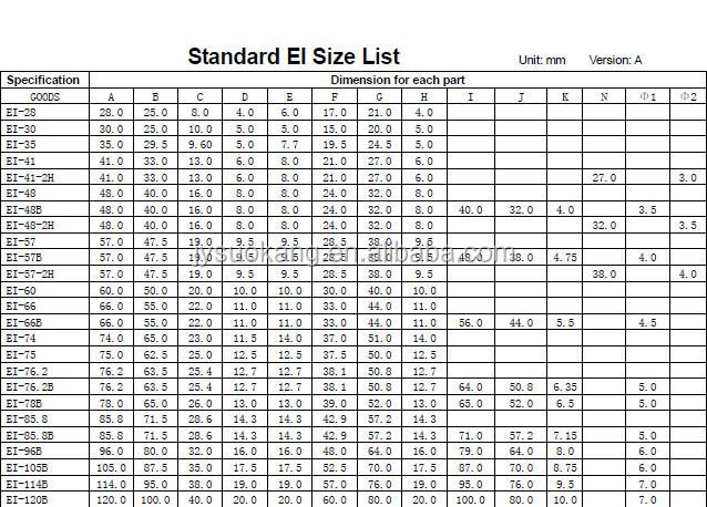Ei 30 Silicon Steel Ei Lamination Transformer Core Buy