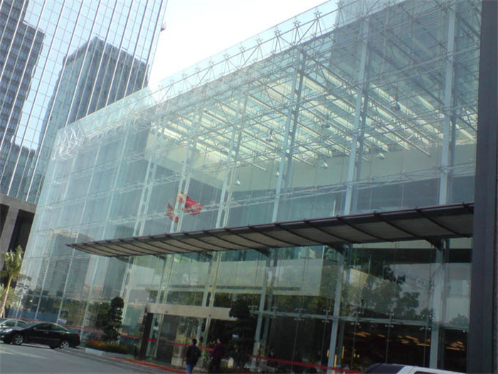 Excellent Safe Steel Structural Reflection Glass Curtain