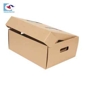 Custom luxury corrugated paper shoe packaging boxes retail
