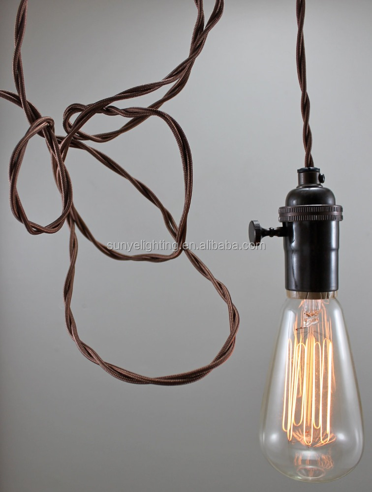 Antique Br Hanging Lamp Vintage