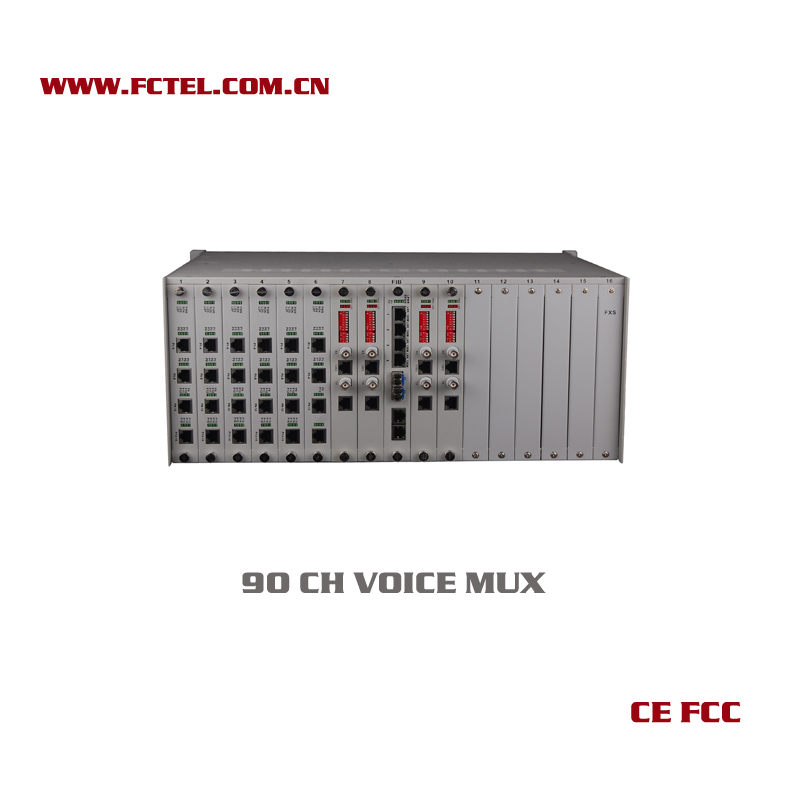 data and voice network equipment 90 chs fxo/fxs +rs232 multiplexer