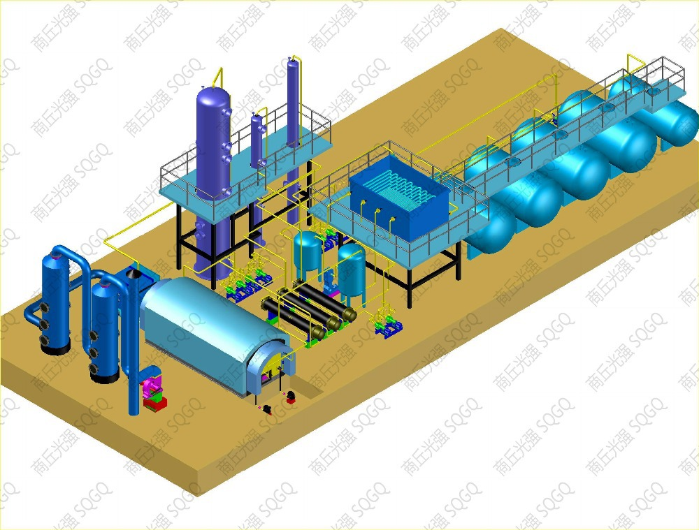 High Oil Output and Automatic Waste Engine Oil Refining Mechine with CE,ISO,SGS,SV