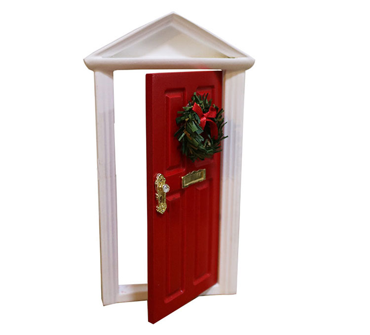 Christmas Gift Sets Diy.2018 Christmas Gift Set 1 12 Dollhouse Miniature Diy Painted Red Wooden Door Kids Toys With Metal Knocker Buy Kids Toys Christmas Gift Set Kids