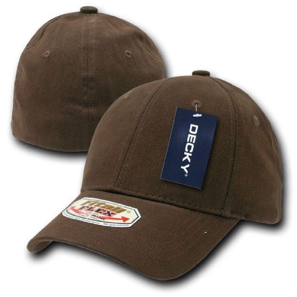 Khaki Plain Solid Blank Flex Baseball Fit Fitted Ball Cap Caps Hat Hats OSFA