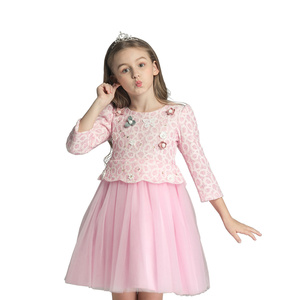 New Apparel Custom baby girl wedding dress 2018 design Dress Kid wholesale