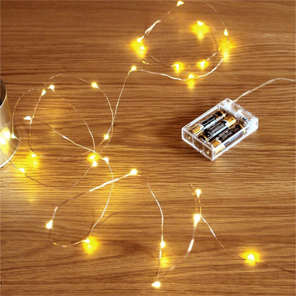 สีทองคริสต์มาสลวดทองแดง LED Fairy String ไฟ