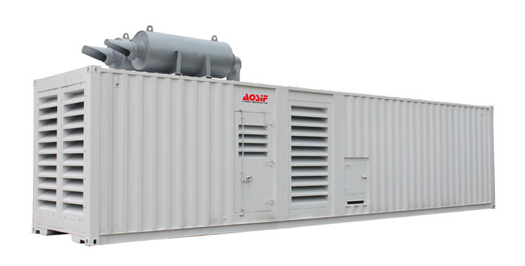 AOSIF 1500 kva 1200 kw container 40ft container diesel generator