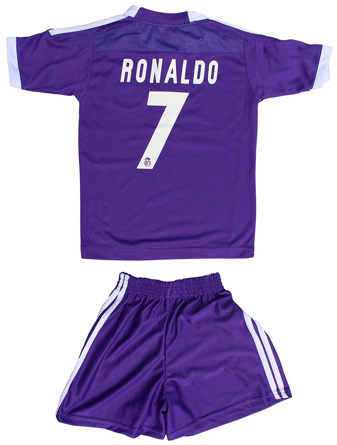 buy popular 87199 bde61 Buy Cristiano Ronaldo #7 Real Madrid Purple Jersey & Shorts ...