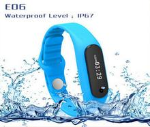 100% Original Sport Activity Tracker Smart Wristband E06 Band Touch Screen Smartband Bracelet For Android IOS Fitness Wristbands