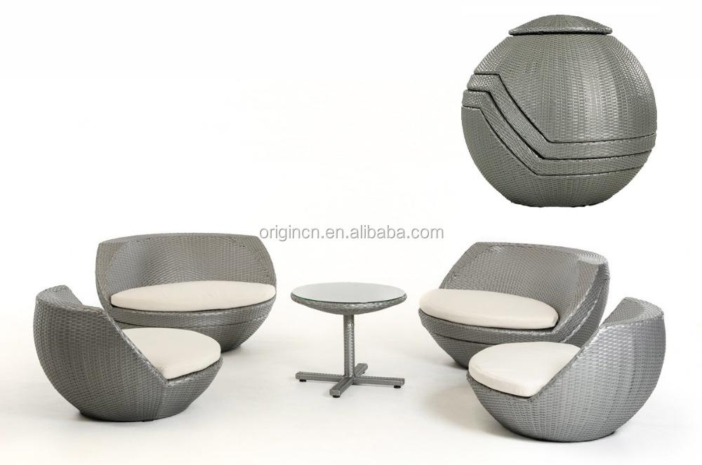 Bola de 5 piezas con forma de huevo gris plata apilables bar y mesa ...
