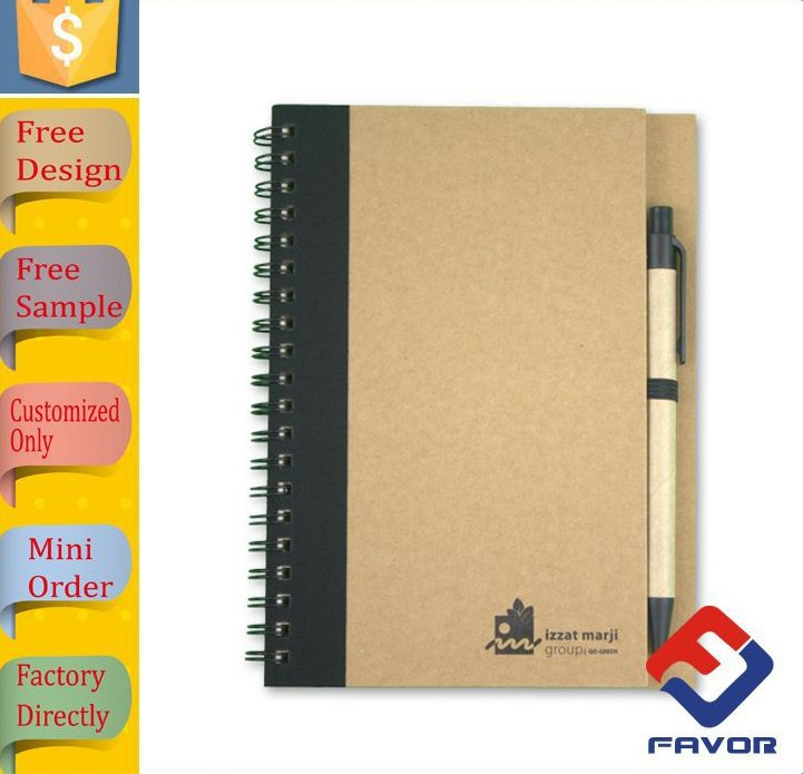 wholesale stationery notebook a5 eco recycled fsc paper notepads and pen