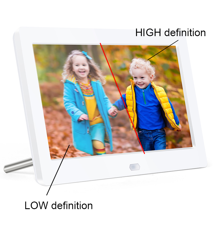 hd digital photo frame 10 inch 1280*800 resolution large viewing area