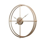 Oversized American Vintage Retro Rustic Handicraft modern home decor Metal Wall Clock with Large Hands Sweep Mechanism