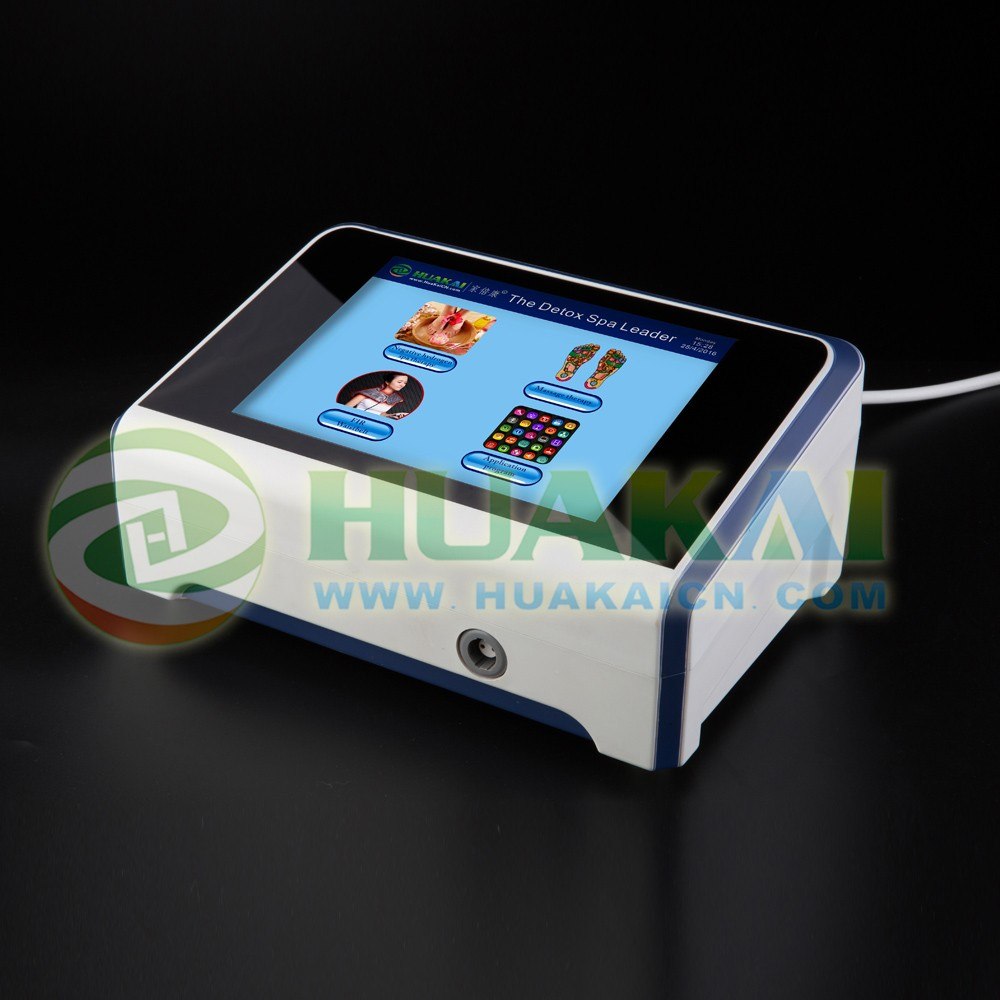 2016 The Most Advanced Touch Screen Detox Foot Spa Machine HK-818 With Acupuncture Pen